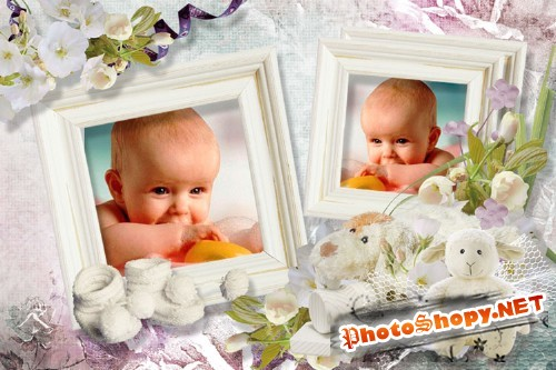 Рамка для фотошопа - Мое детство