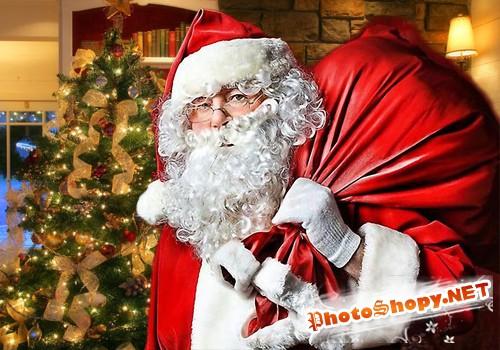 Мужской шаблон для фотошопа - Тайна новогодней ночи