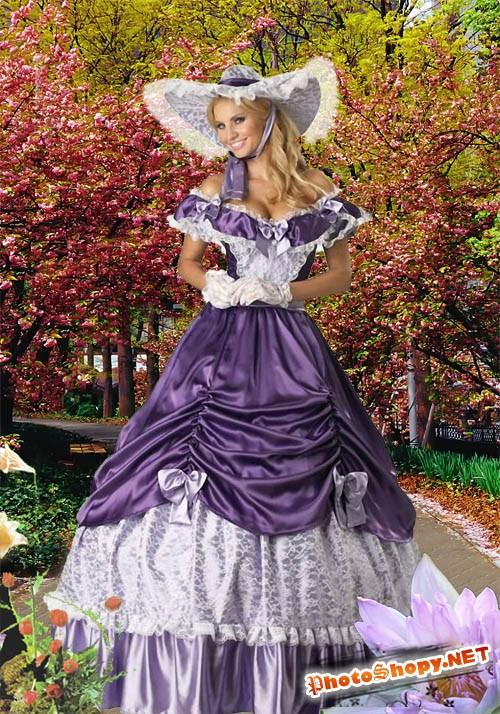 Женский шаблон для фотошопа - Осенний Парк