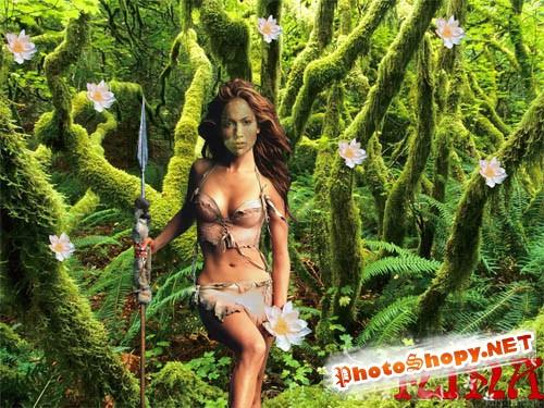 Шаблон для фотошопа - Амазонка