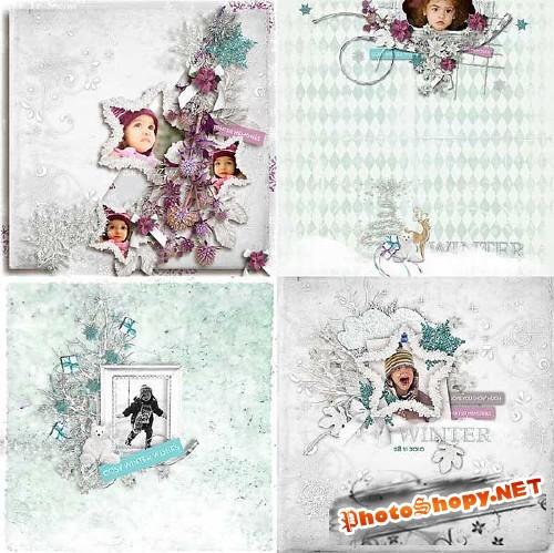 Зимний скрап-набор - Этот удивительный снег