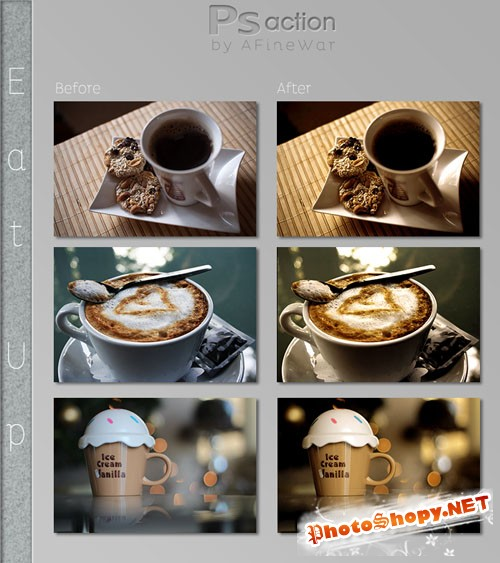 Eat Up Photoshop Actions
