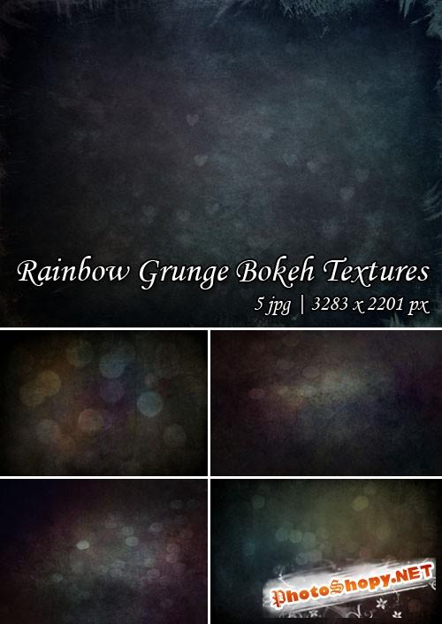 Rainbow Grunge Bokeh Textures
