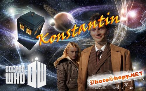 Шаблон для фотошопа - Доктор Кто.
