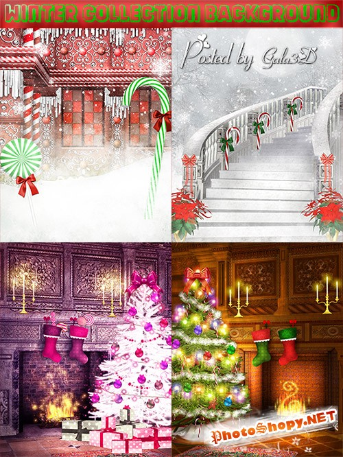 Новогодние и красивые фоны  для дизайна