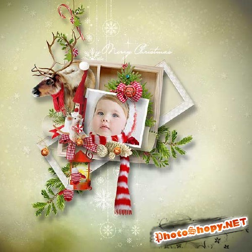Рождественский скрап-набор - Веселое Рождество