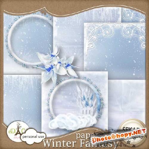Зимний скрап-набор - Фантазия зимы