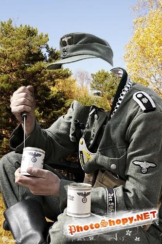 Шаблон для фотомонтажа - военная униформа