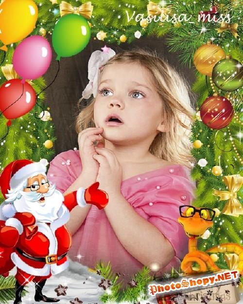 Новогодняя рамка - Елка наряжается,праздник приближается
