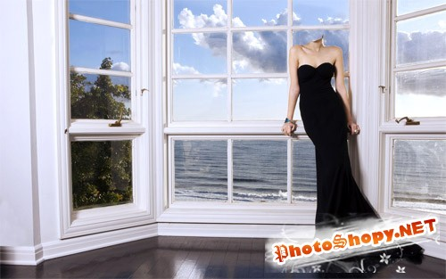 Женский шаблон - у окна