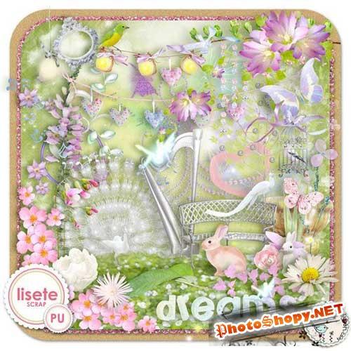 Цветочный скрап-набор - Мечты