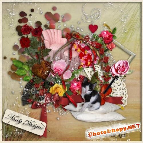 Романтический скрап-набор - С любовью