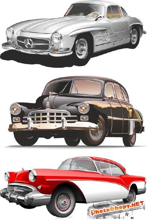 Ретро автомобили (подборка вектора)