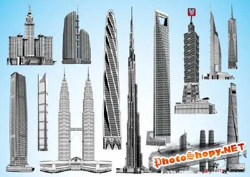 Векторный клипарт -Элитные  небоскрёы