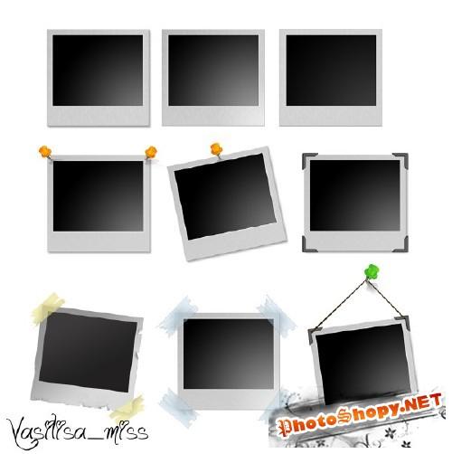 Рамки для фотошоп - Снимки полароида