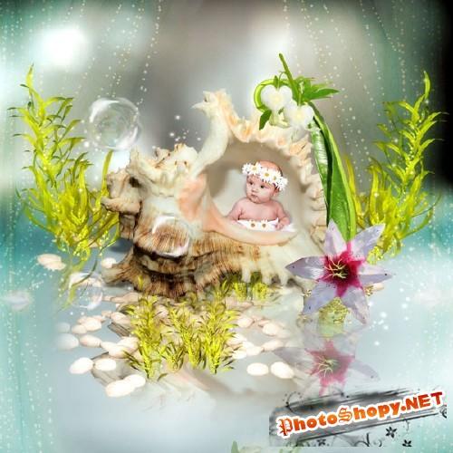 Скрап-набор - Морские чудеса