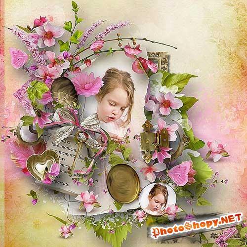 Цветочный скрап-набор - Настоящее время