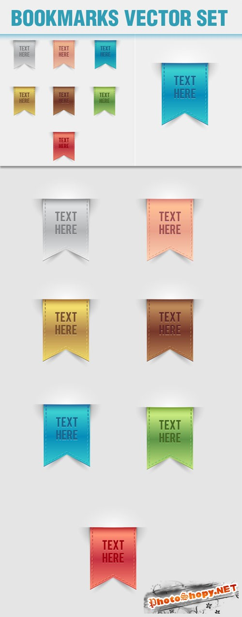 Designtnt - Bookmarks Vector Elements