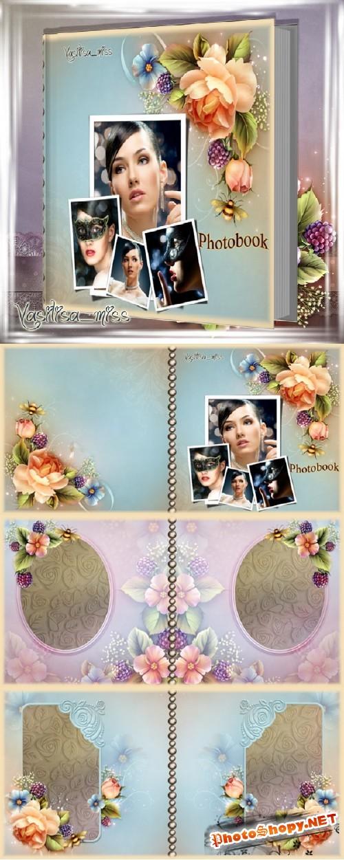 Романтическая фотокнига - Цветочные страницы