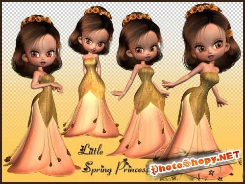 Детский скрап-набор - Маленькая принцесса весны