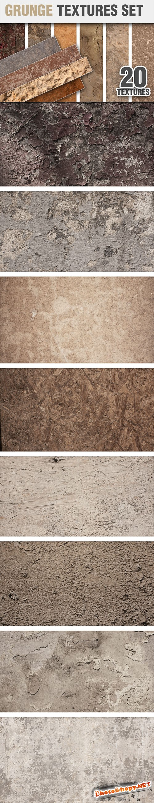 Designtnt - Grunge Textures Set 2