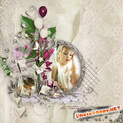 Нежный свадебный скрап-набор - Благословенный миг