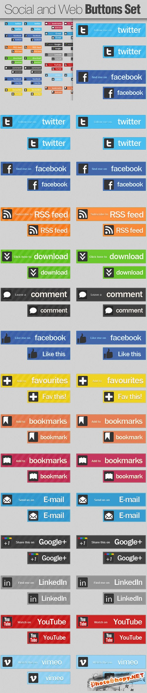 Designtnt - Social and Web Buttons