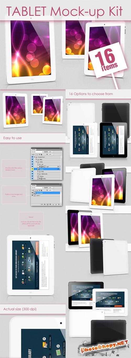 Designtnt - Tablet Mock-up Kit