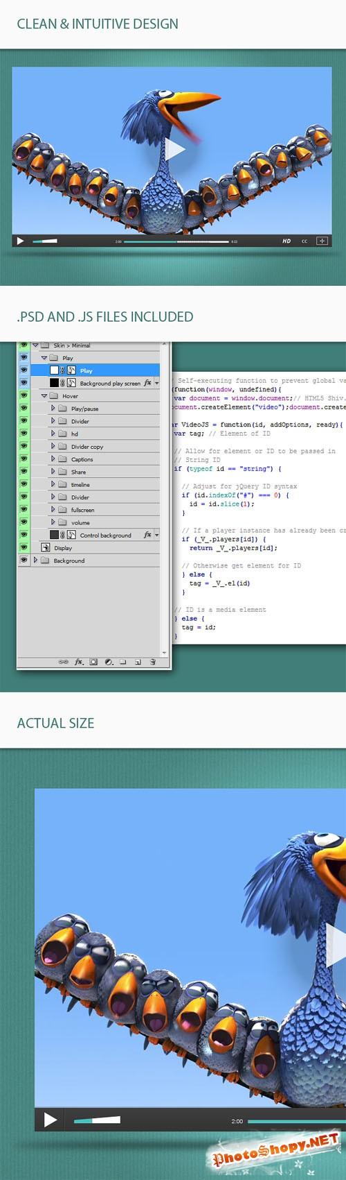 Designtnt - HTML Video Player Skin