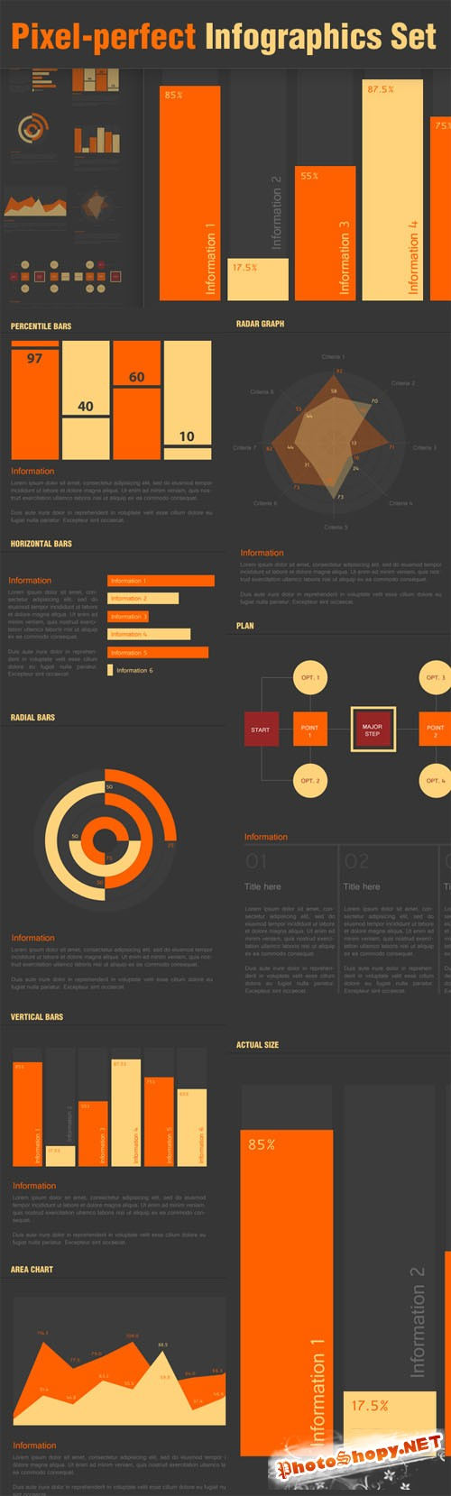 Designtnt - Pixel Perfect Infographic Elements