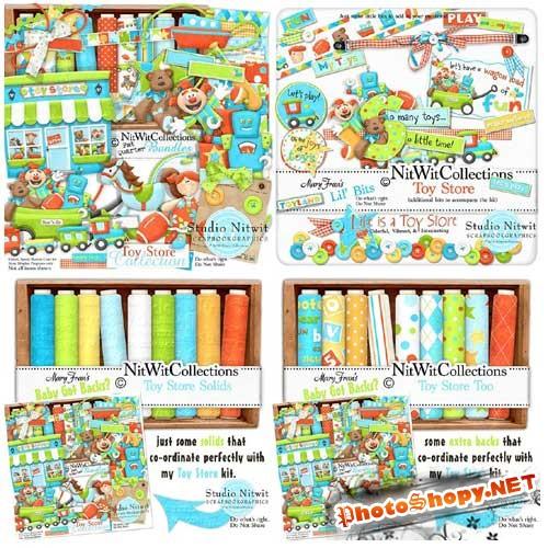 Детский скрап-набор - Магазин игрушек