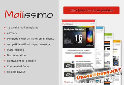 Designtnt - Mailissimo Email Templates