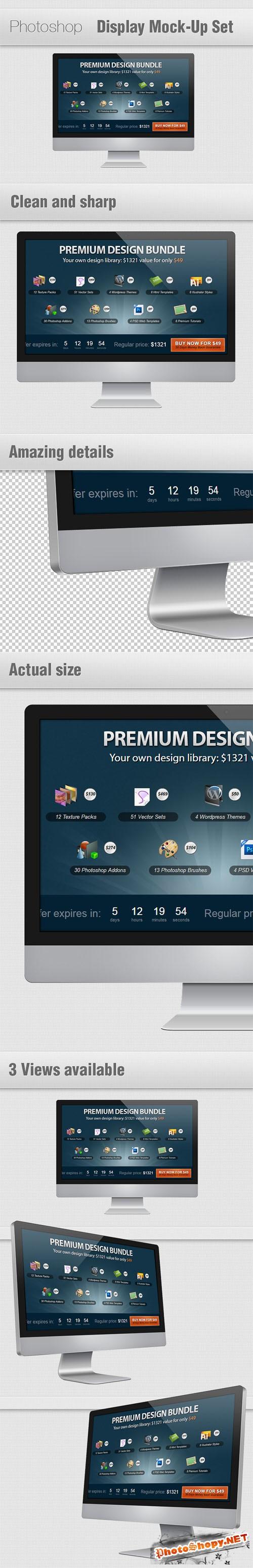 Designtnt - Display Mock-ups Set for Photoshop