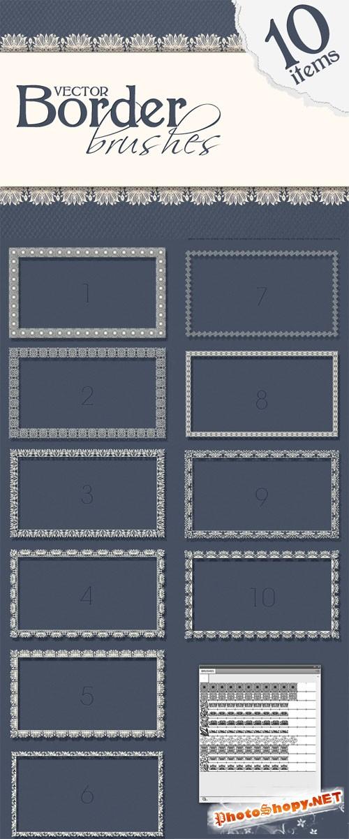 Designtnt - Border Pattern Brushes for Adobe Illustrator