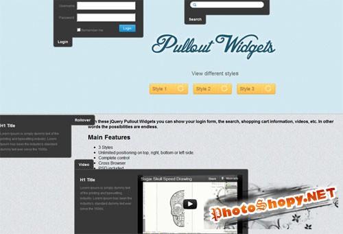 Designtnt - Pullout jQuery Widgets