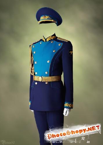 Военная парадка - шаблон фотошоп