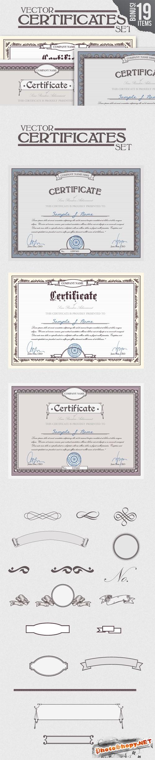 Designtnt - Certificate Vector Templates