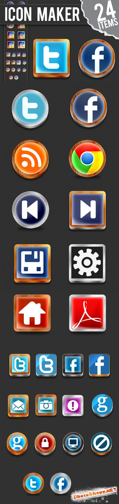 Designtnt - Photoshop Icon Maker
