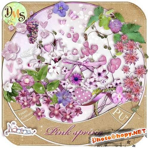 Скрап-набор - Розовато романтическая весна