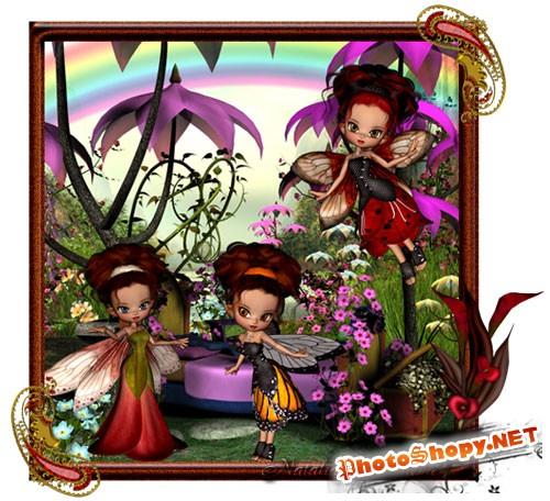 Сказочный скрап-набор - Летающие феи