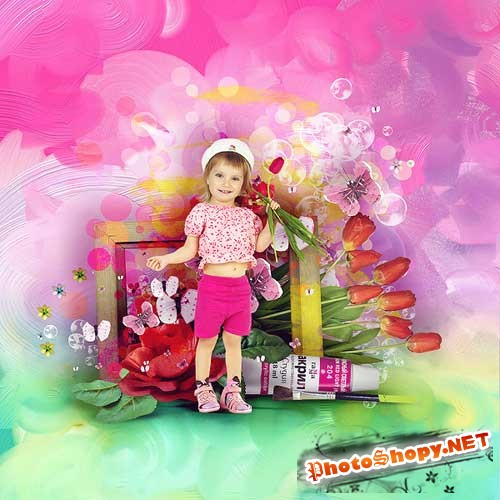 Детский скрап-набор - Красочный