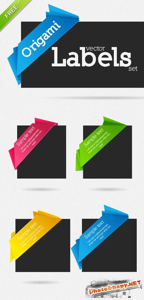 Designtnt - Vector Origami Labels