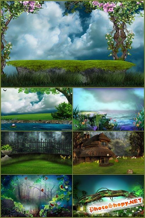 Фоны для фотошопа - Волшебная фантазия 7