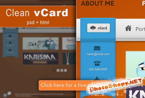 Designtnt - Clean VCard Template