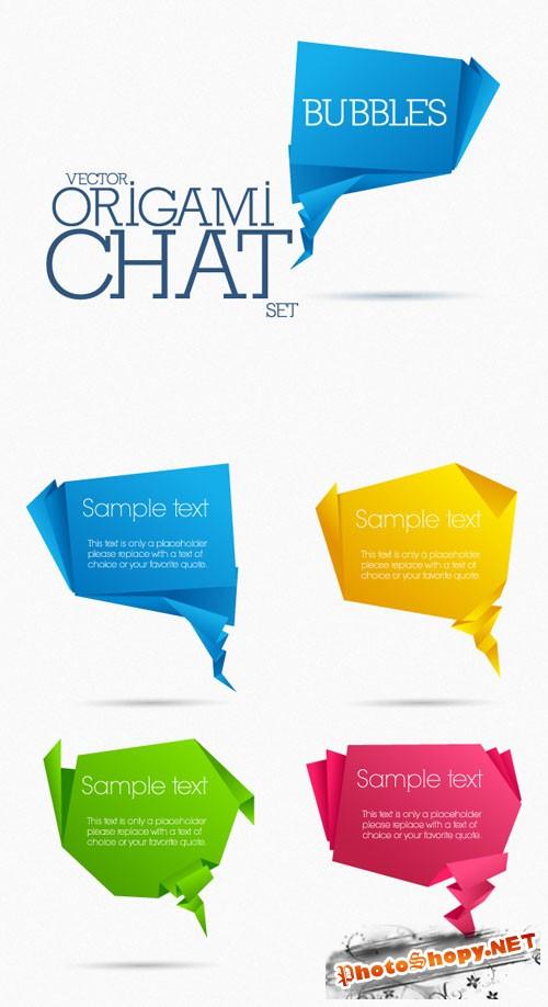 Designtnt - Origami Chat Bubbles