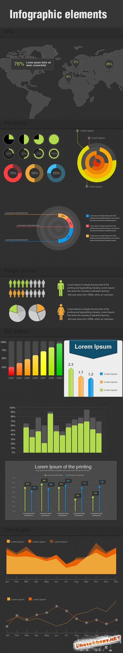 Designtnt - Infographic Elements PSD