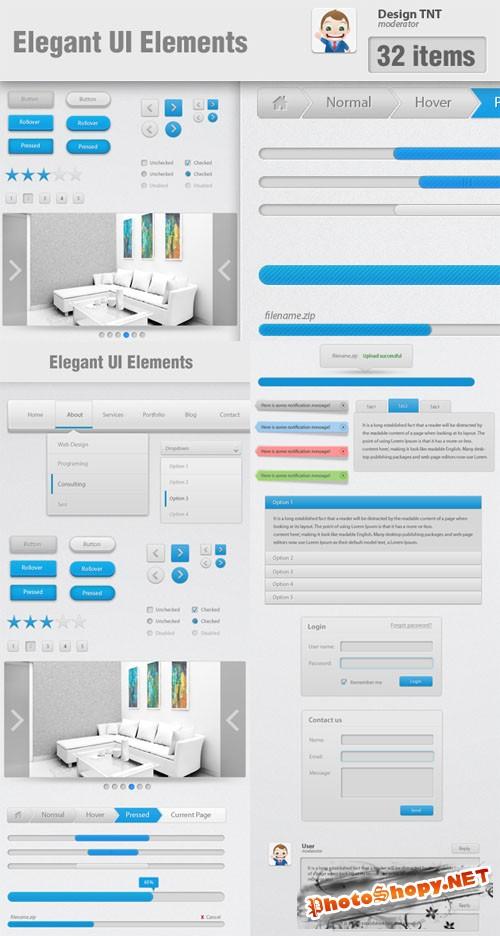Designtnt - Elegant Website UI Elements