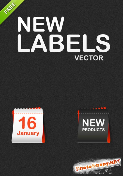 Designtnt - Vector New Labels