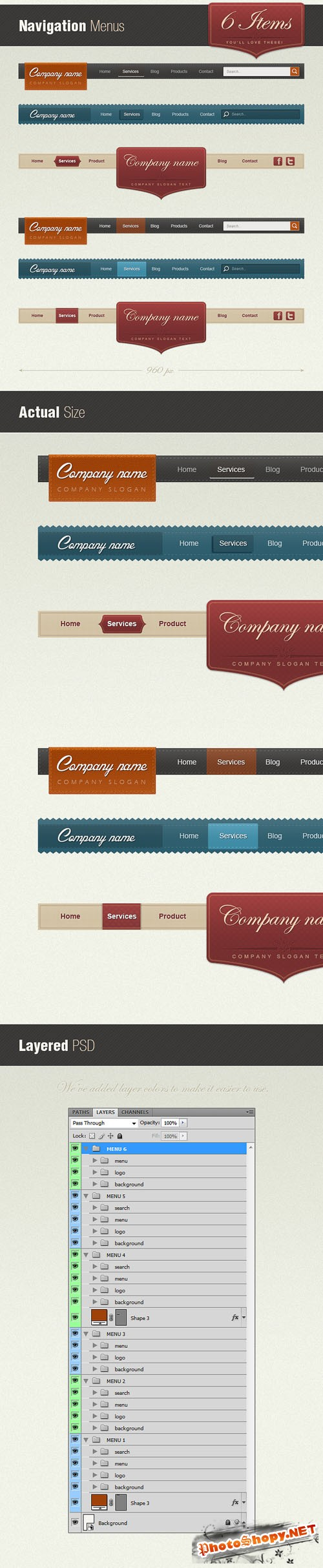 Designtnt - Retro Web Navigation Menus