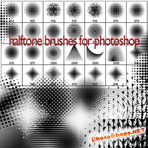 Кисти для фотошопа - Полутона